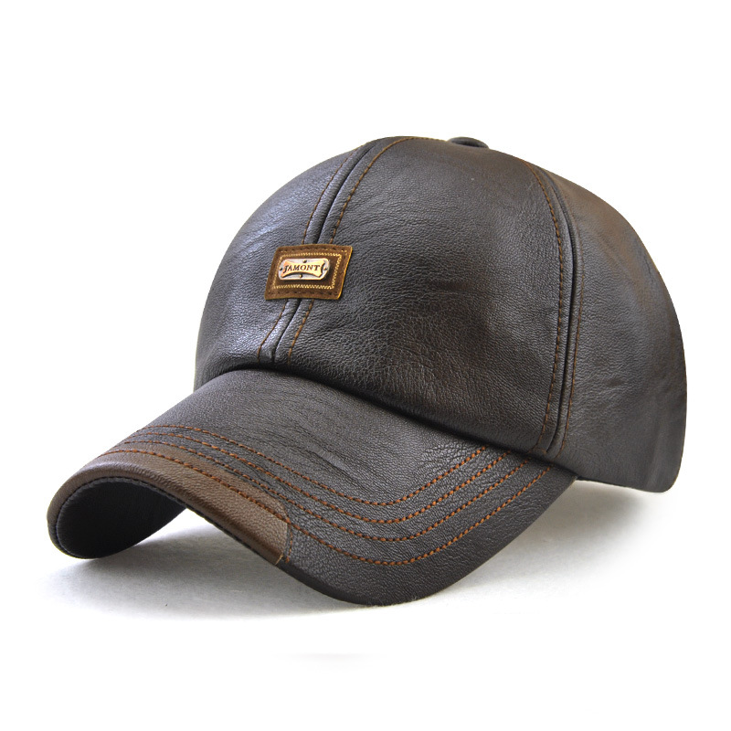 New trendy leather cap