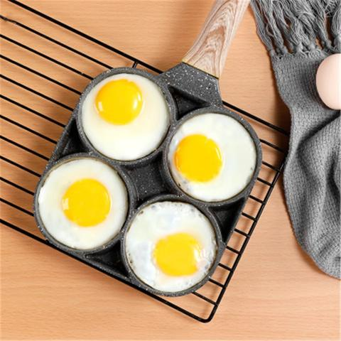 FOUR-HOLE FRYING POT PAN THICKENED NON-STICK ENTIRELY MADE OF MAIFAN STONE