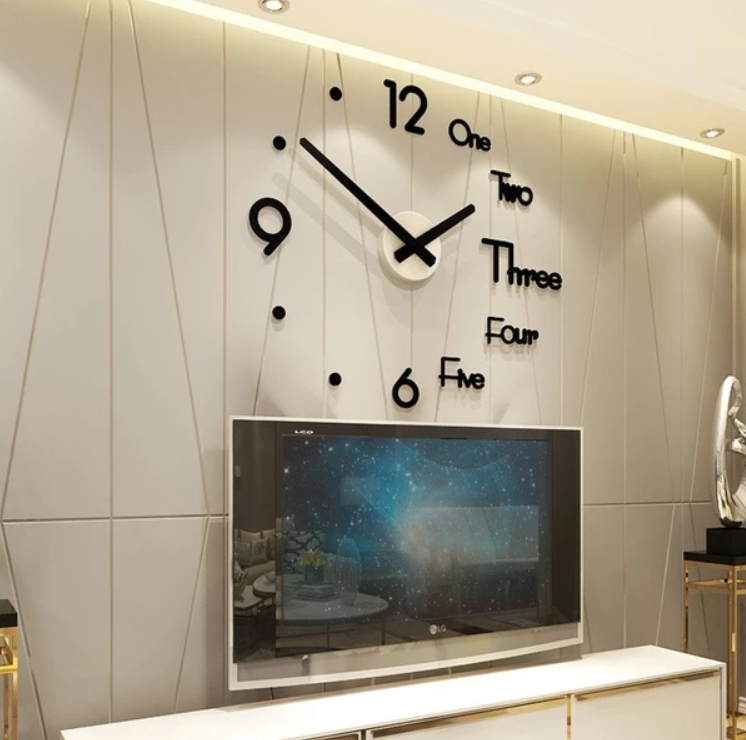 Diy Large Wall Clock Modern Design 3D Wall Sticker Clock(Buy 2 Free Shipping)