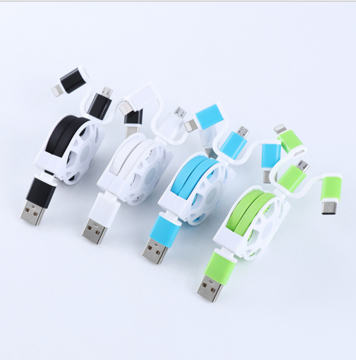 SKRTEN  Retractable  USB Charging Cable for Apple iPhone/Android