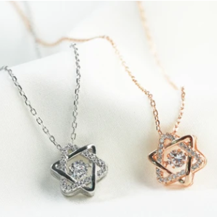 Six Point Star Necklace Pendant