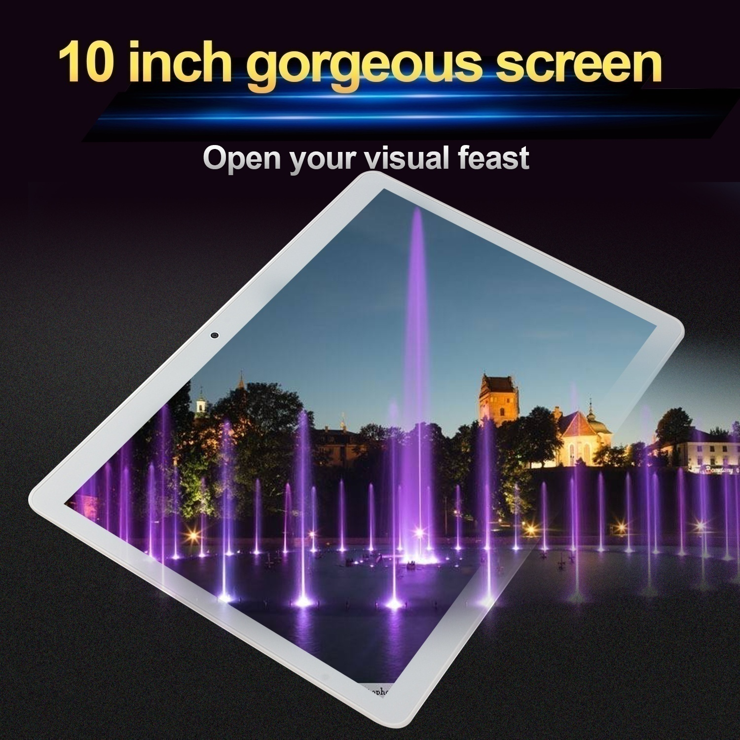 Tablet 10.1 Inch with 8GB +512GB Large Memory 1920*1200 IPS Screen Cheap Tablets Android  Octa Core MT6797 Dual SIM Card Ipad Pro Phone 4G Call Wifi Android Tablets