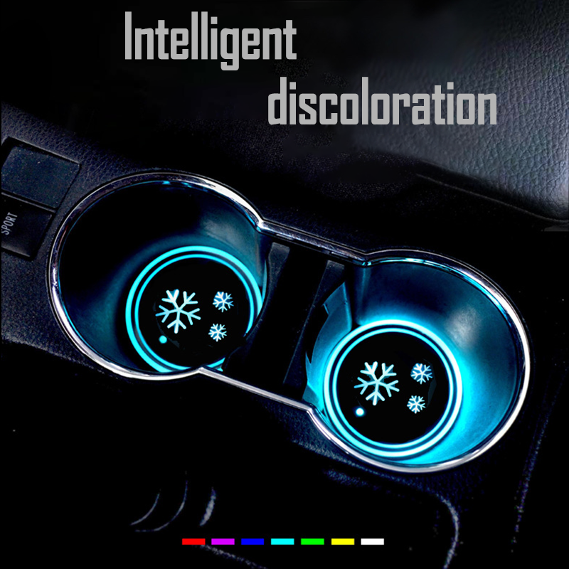 (Only $9.99 TODAY- Merry Christmas) 7 Colors Led Changing Car Cup Coaster(1PC)