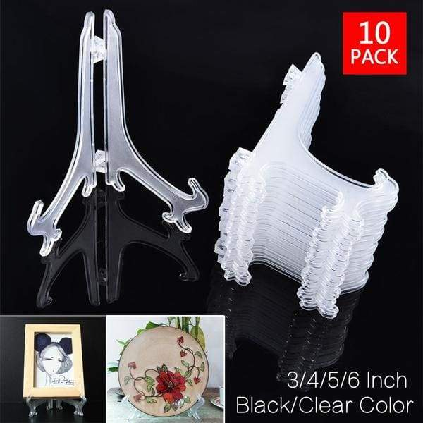 10pcs Portable Easels Plate Holders Display Stand Stander Picture Frame Photo Tools Display Dish Rack Home Decor 3/4/5/6 Inch
