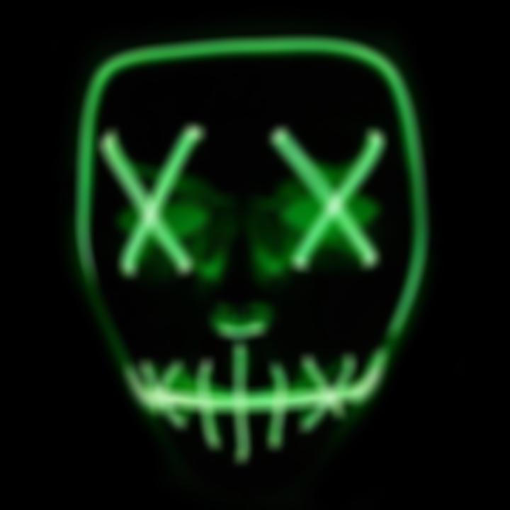 SKRTEN LED Light Wire Glowing Purge Mask for Festival Halloween Cosplay Costume