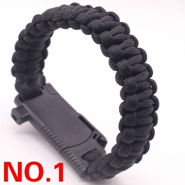 5 In 1 Multifunction Outdoor Survival Gear Escape Paracord Bracelet Flint&Whistle&Compass&Blade Outdoor Camping Tools Bracelet