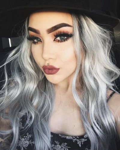 2020 Best Lace Front Wigs Human Hair Lace Front Wigs Caucasian Bluish Gray Hair Coral Pink Wig Two Color Lace Front Wigs