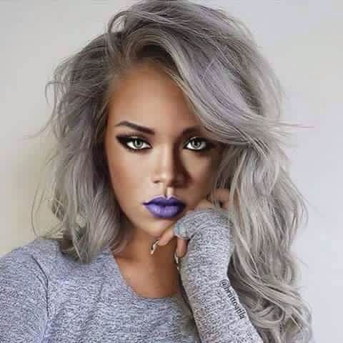 Gray Hair Wigs For African American Women Water Wave Lace Front Wig Orange Bob Wig Dark Blue Gray Hair Gray Cover Up Human Hair Wigs For Sale