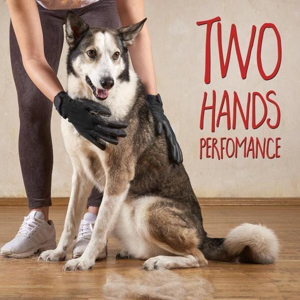 Pet Grooming Gloves For Cats, Dogs & Horses