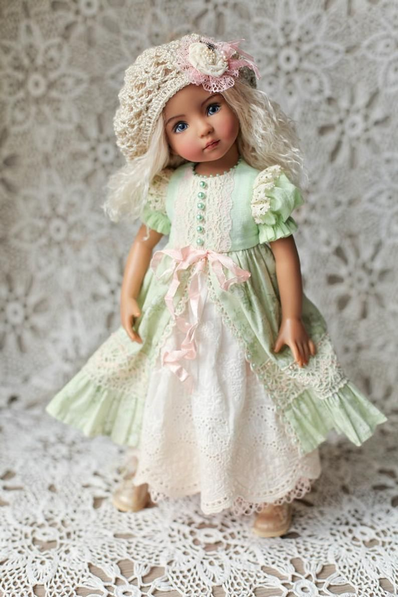 👧👧Little Darling Dianna Effner Doll with dress💝Lolita Style#4