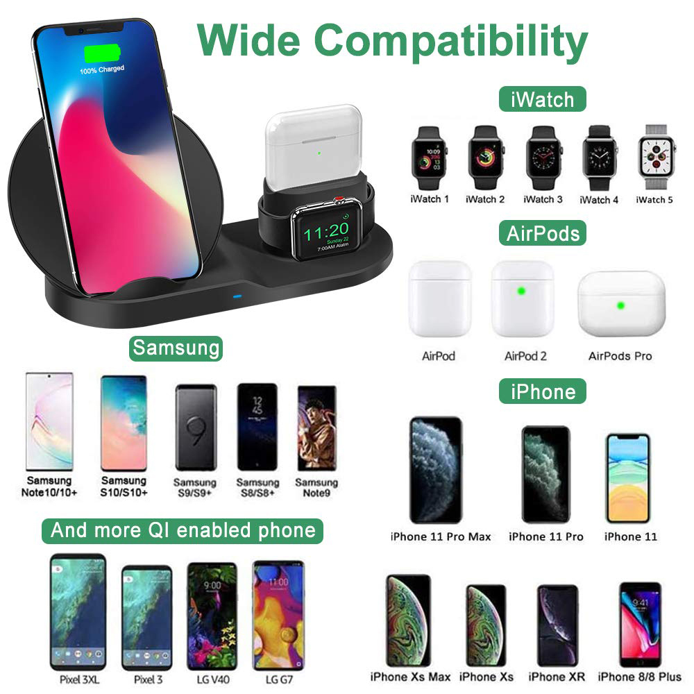 18W Qi Wireless Charger Dock Station Induction Charger