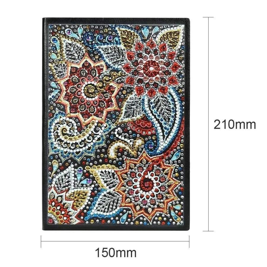 10 Styles DIY Flower Special Shaped Diamond Painting 60 Sheets A5 Notebook Office Supplies