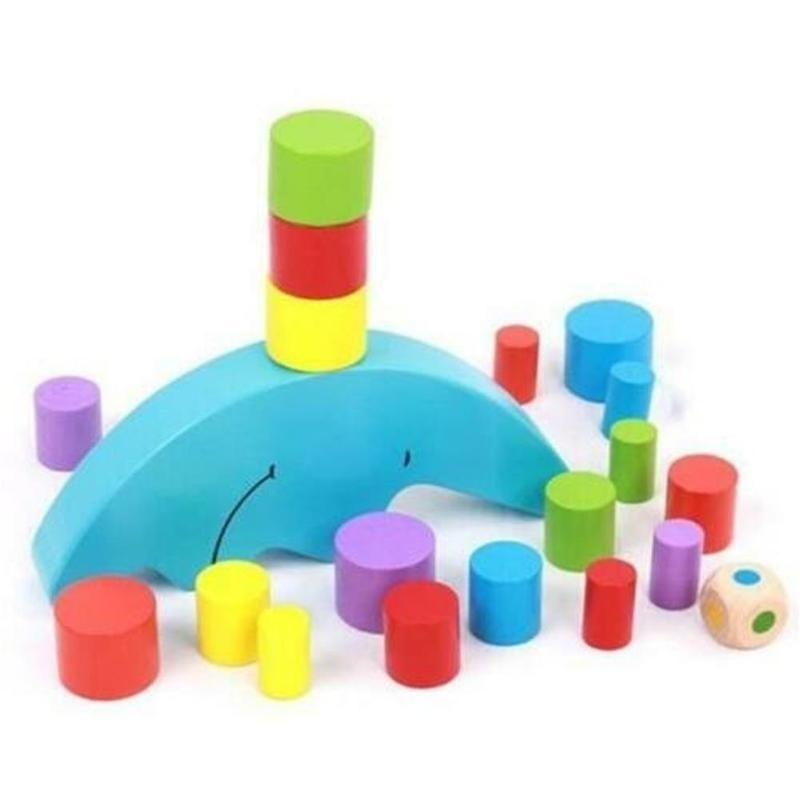 Toy Bricks Moon Equilibrium Blocks Game Puzzle Toy for Kids Early Education