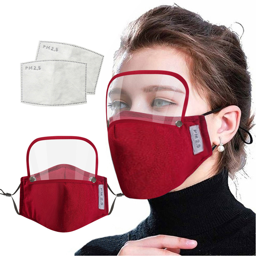 Face Cover With Eyes Shield