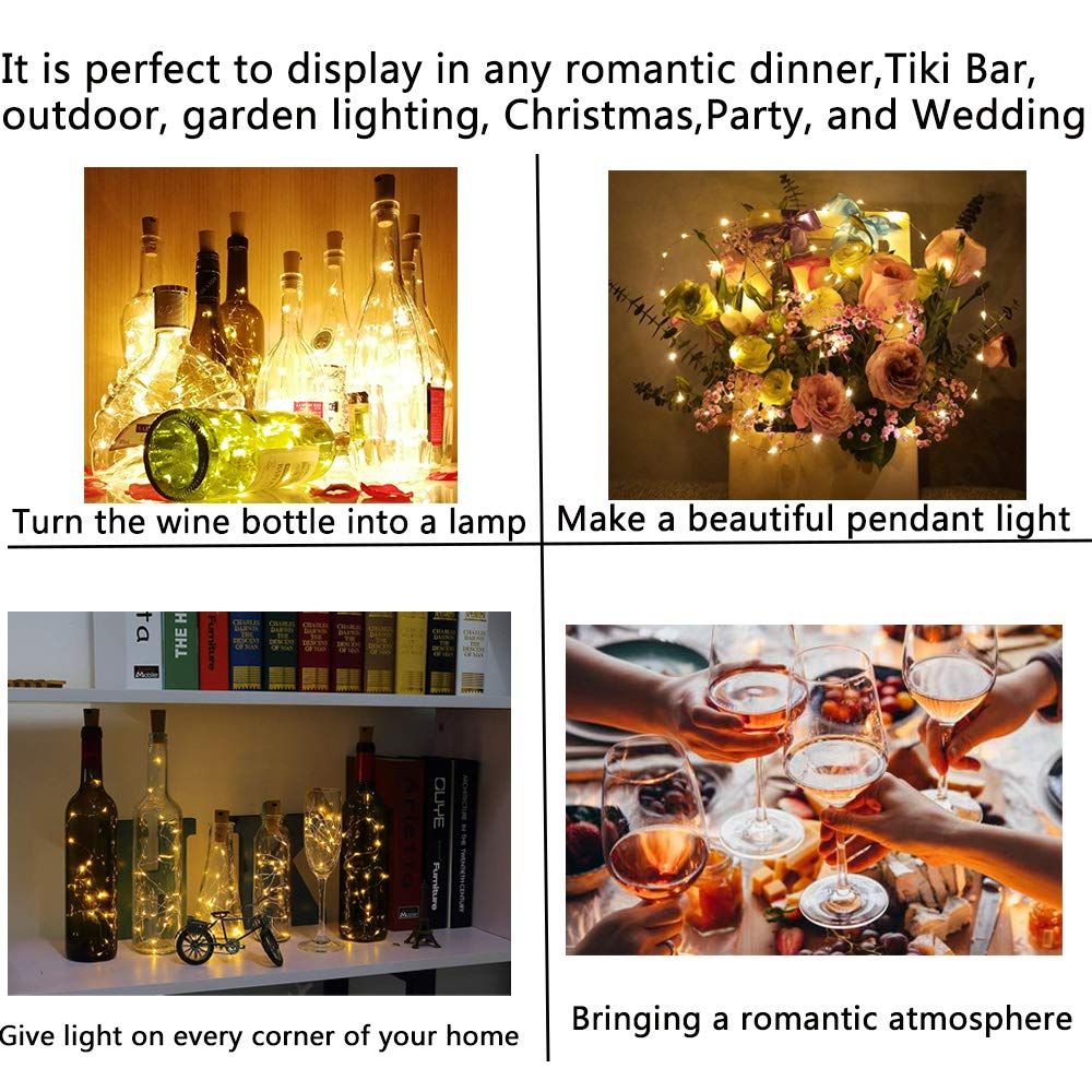 Multi-function 10/20LED Corks Night Starry String Lights Wine Bottle Lamp