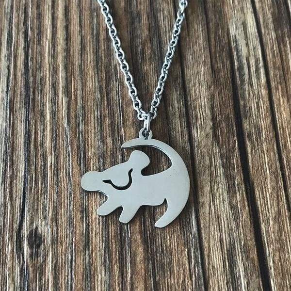 Stainless Steel Silver Gold Lion King Dog Pendant Necklace For Women Jewelry