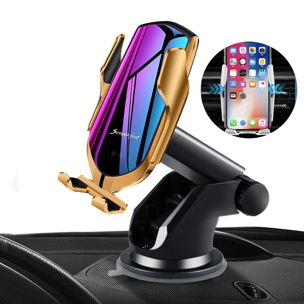 AHOME7 Wireless Car Phone Holder Charger Automatic Clamping Mount Fast Charging
