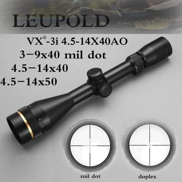 Leupold VX-3i 3-9x40 4.5-14x40 4.5-14x50 Duplex/Mil Dot Reticle Optics Riflescope Hunting Scopes Mil-Dot Tactical Scopes for Airsoft Air Rifles