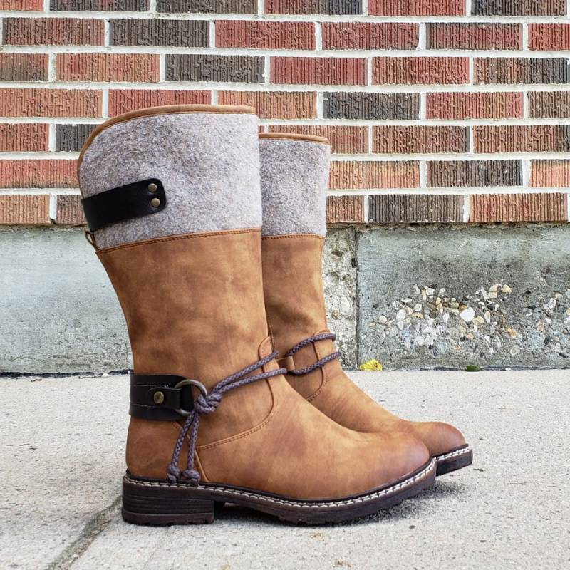 Comfy Low Heel Mid-calf Boots (Free Shipping)