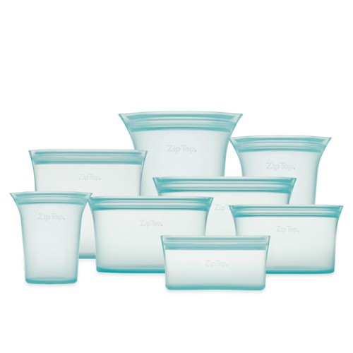 Food Grade Zip Silicone Reusable Containers®  8 Pcs / Set | Official Authorized Store