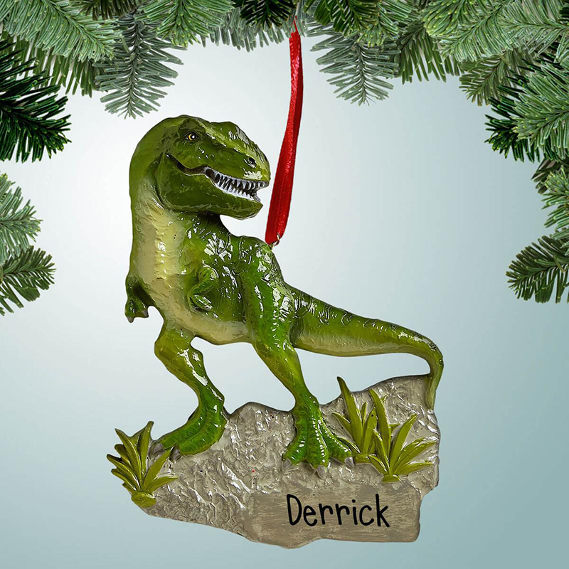 T-REX DINOSAUR-Personalized Christmas Ornament