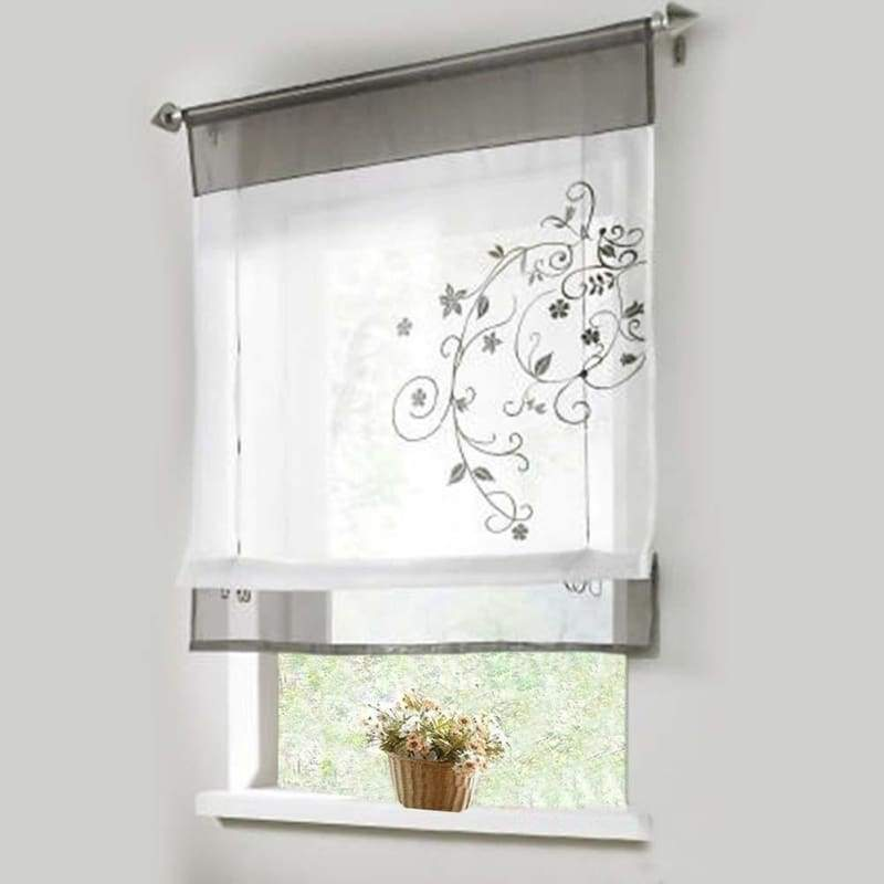 Polyester Translucent Drapes Roman Blinds Window Curtain Home Decor