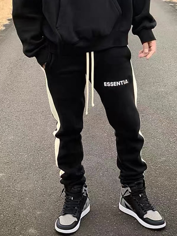 Knitted panel track pants