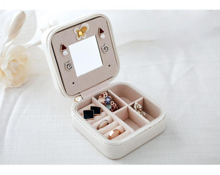 50% OFF TODAY- Luxury Leather Travel Jewelry Box