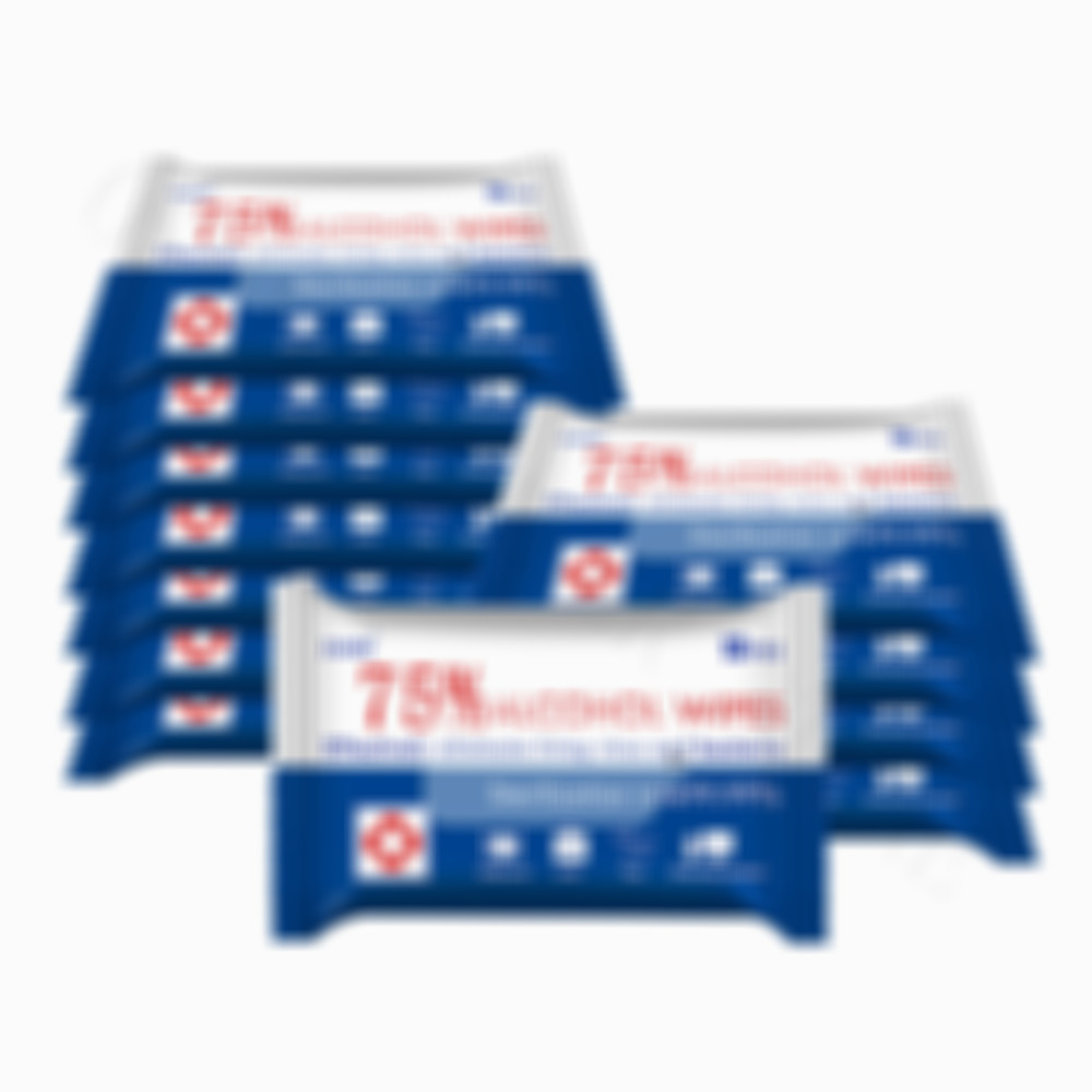 Vooknu 10pcs/pack 75% Alcohol Wet Wipes Disinfected