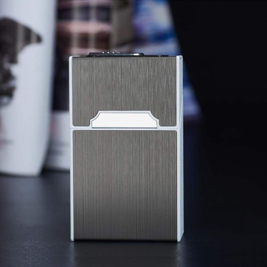 Aluminum Alloy Portable Cigarette Case Box Waterproof Windproof 20pcs Cigarette Holder for Smoking Flameless