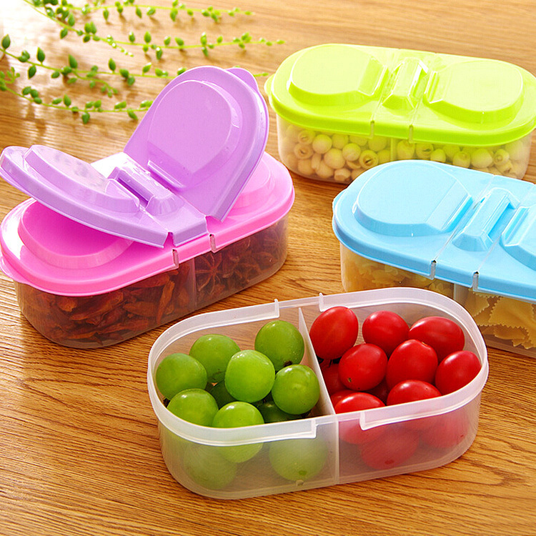 Candy color double compartment storage box
