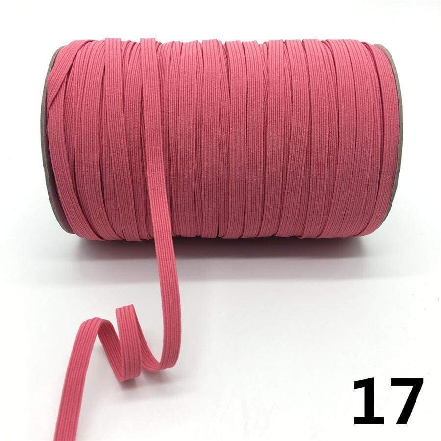 5yards 7mm High Elastic Sewing Elastic Band Fiat Rubber Band Waist Band Stretch Rope Elastic Ribbon