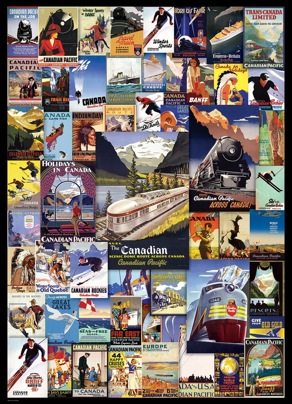 Memorable retro  poster puzzle (buy 2 sets free shipping)