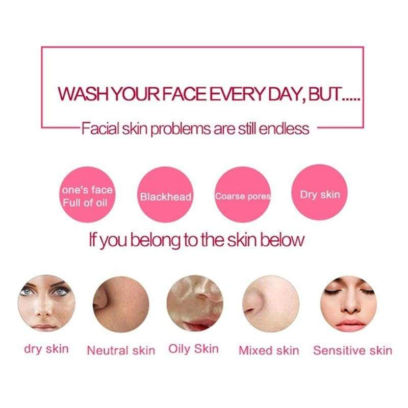 Silicone Face Washing Brush Electric Facial Cleaning Machine Massage Brush Waterproof Face Skin Care Cleanser