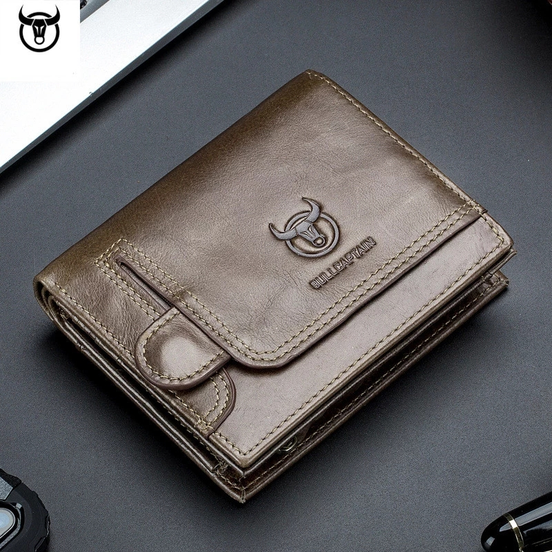 Genuine Leather Men's Purse Design male Wallets With Zipper Coin Pocket Card Holder Luxury Wallet