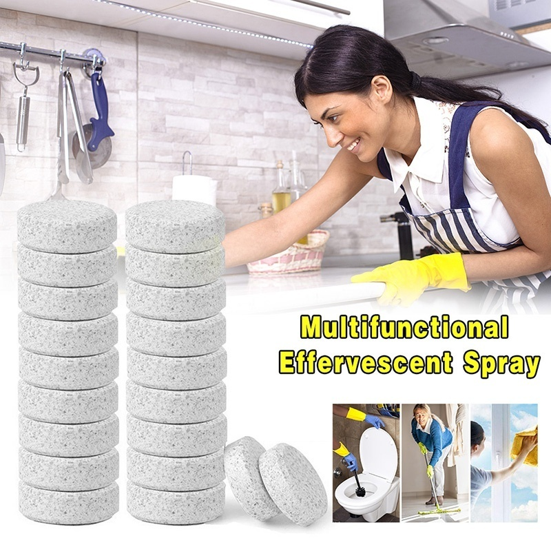 10 Pcs Multifunctional Effervescent Spray Cleaner Concentrate Floor Cleaner Toilet Cleaner Home Cleaning