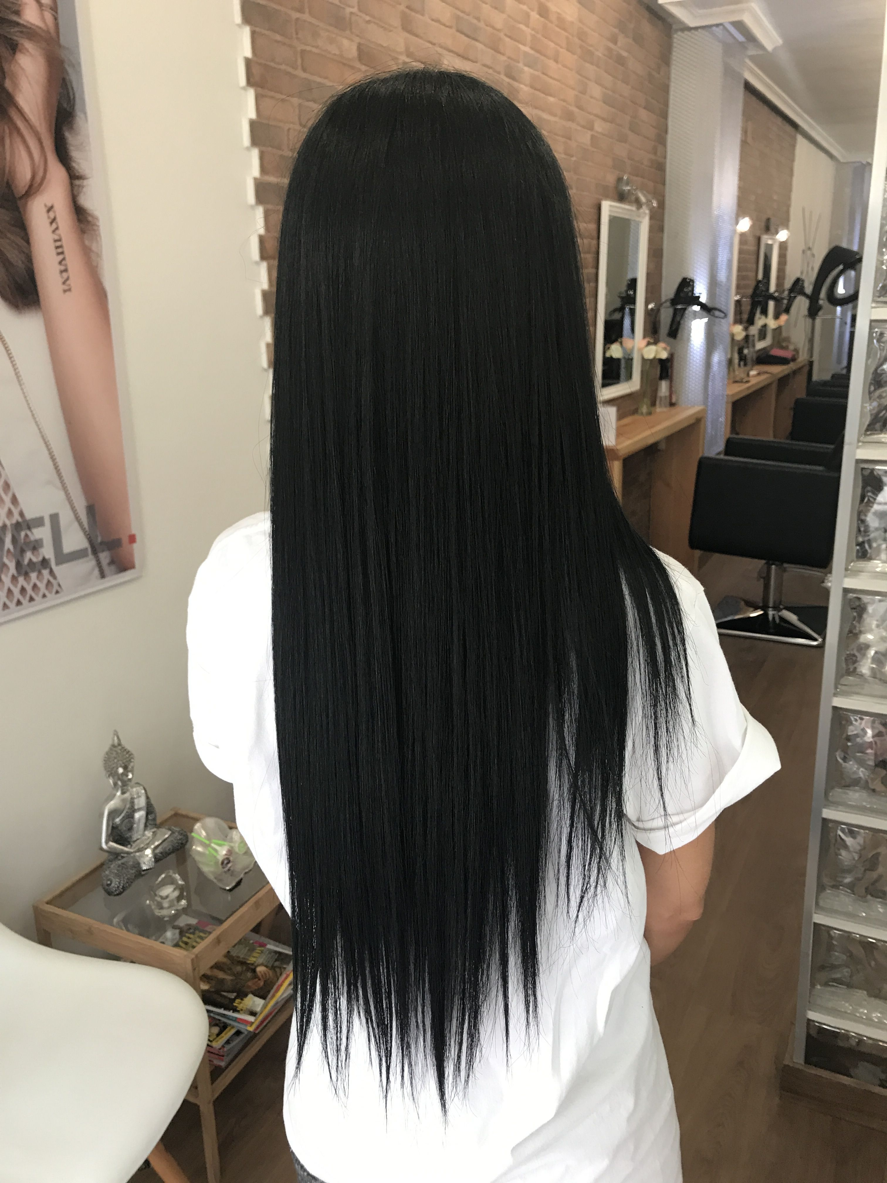 2020 New Straight Wigs Black Long Hair Wigs For Round Face African American Yaki Bang Wig