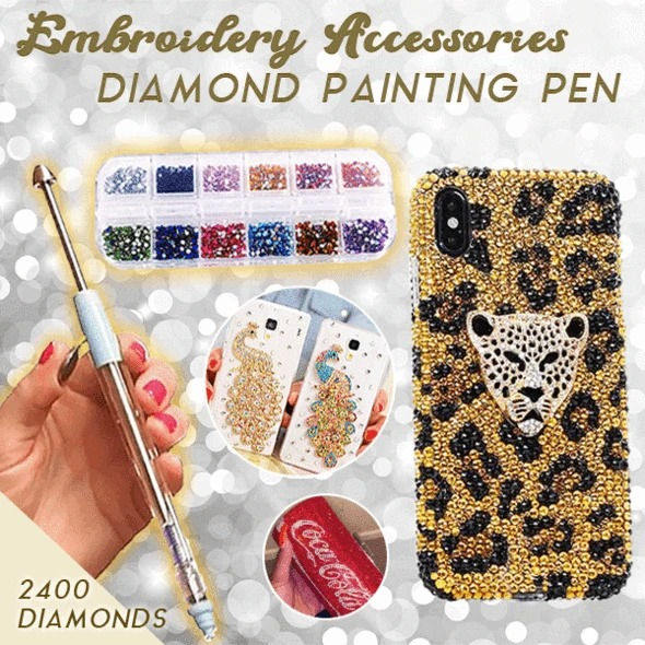 Embroidery accessories and diamond painting tools for only $9.99