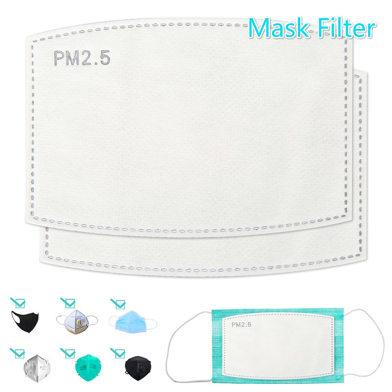 Ymulen® Mask Filter Pads KN95 5 Layer Carbon Filter Mouth Face Masks Anti Dust Mask Pad For KN95 FFP2 N95 Masks