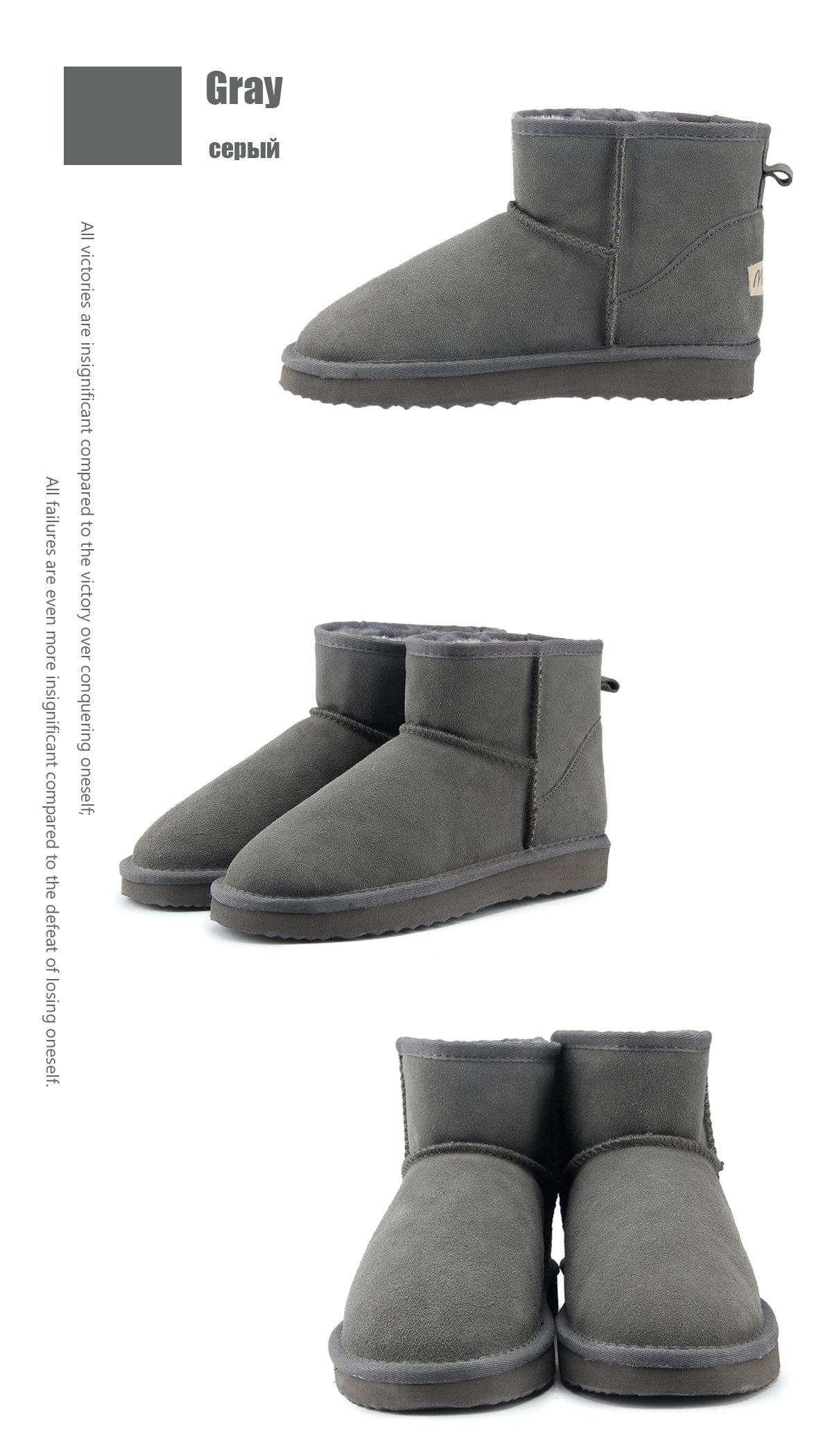 MBR FORCE Women Cowhide Leather Warm Winter Boots