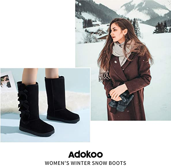 Winter Snow Boots for Women,Classic Fashion Tall Boots