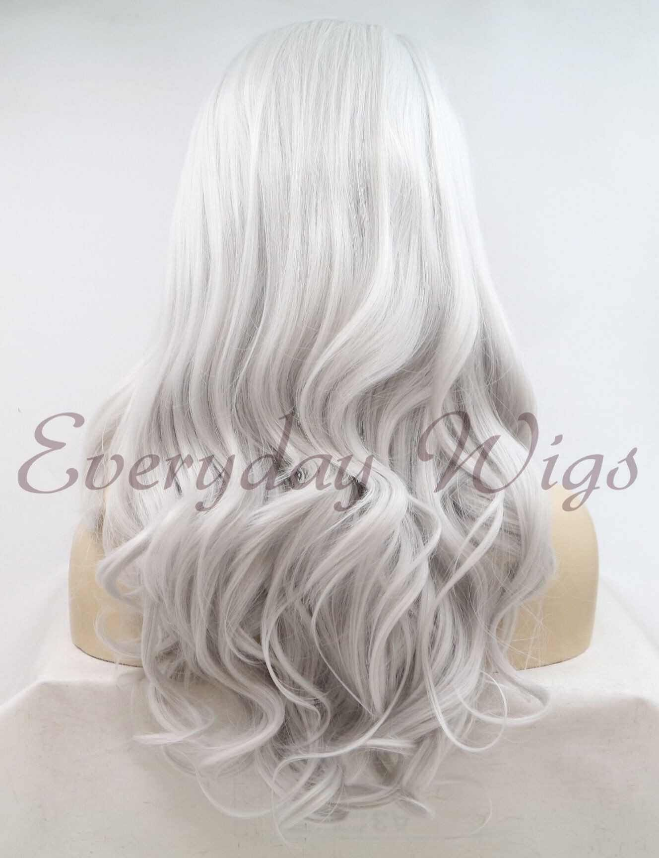 Gray Wigs Lace Frontal Wigs Eyebrow Makeup For Grey HairGrey Hair Cool Skin Tone