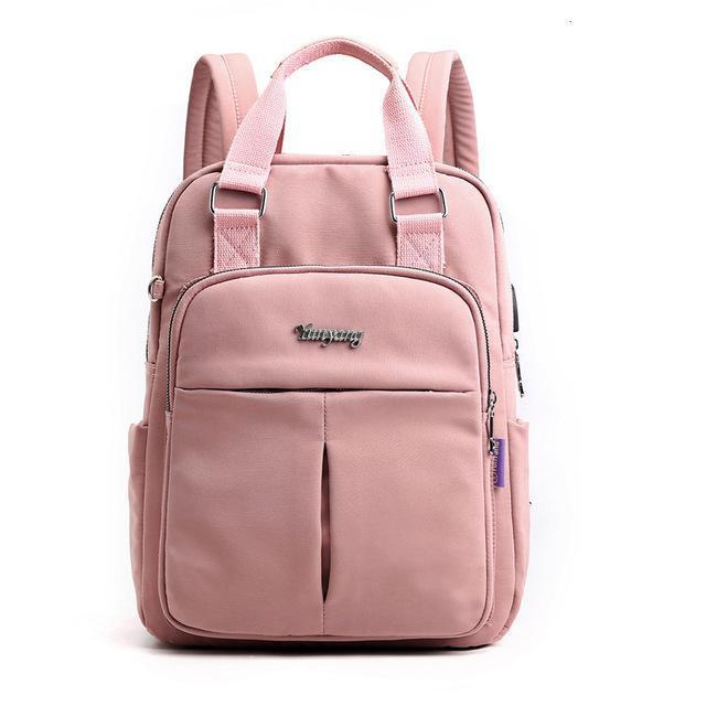 Laptop backpack for women 13.3inch waterproof USB charging backpack