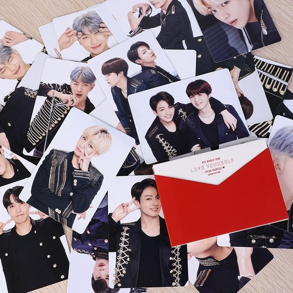8Pcs/Set New Kpop Bts Bangtan Boys Japan Album Photo Cards Jimin Rm Suga V Photocard Postcard