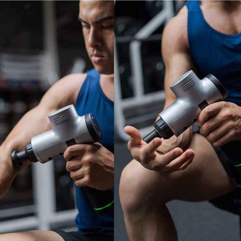 AHOME7 (Lowest price in 2019) Muscle Massager Gun - 3-speed & 4-in-1 Deep Tissue Massage Relieves Muscle Soreness and Stiffness