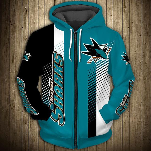 San Jose Sharks Limited Edition Zip-Up Hoodie