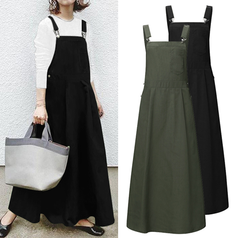 Summer comfortable long dress with straps