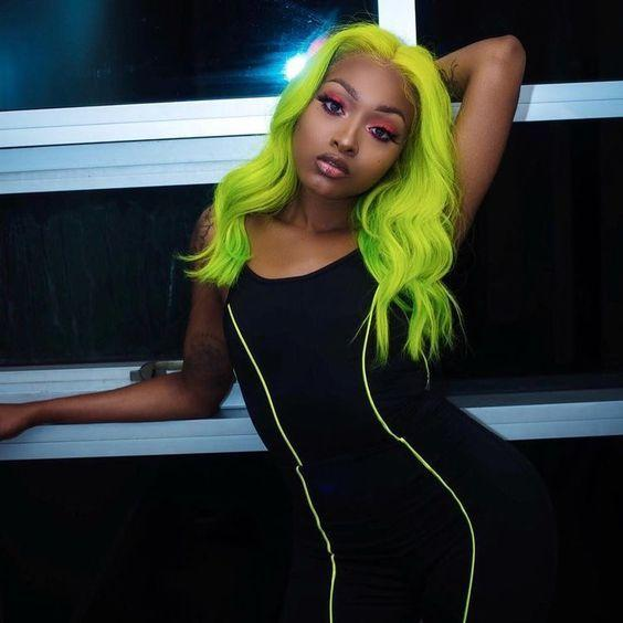 Green Wigs Lace Front Wigs Virgin Hair For Black Women Red Pixie Cut Wig Best Online Wig Sites Divaswigs Short Green Wig Free Shipping