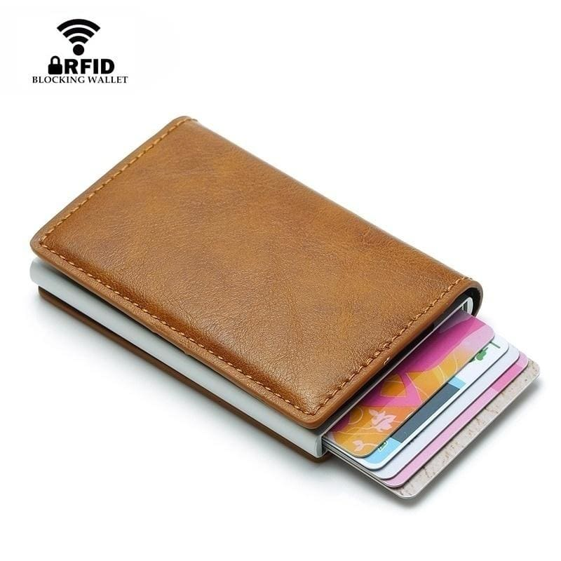 Rfid Card Holder Wallets for Men Money Bag Male Short Leather Wallet Small Slim Leather Smart Thin Wallets Purse