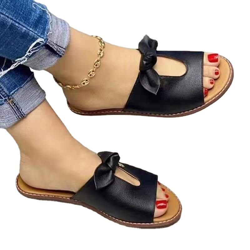 2021 summer new bow sandals